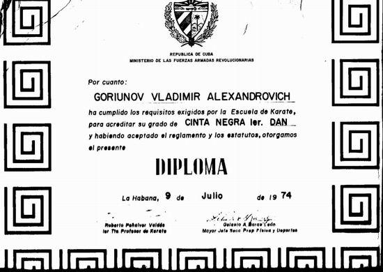 Диплом В.А. Горюнова